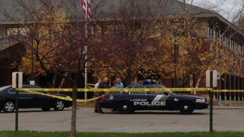 Lansing police investigate an apparent suicide at Community Mental Health in Lansing.