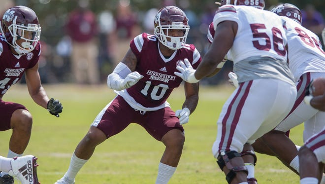 Mississippi State's Leo Lewis during the Maroon & White spring game.