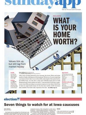Asbury Park Press front page, Sunday, January 31, 2016