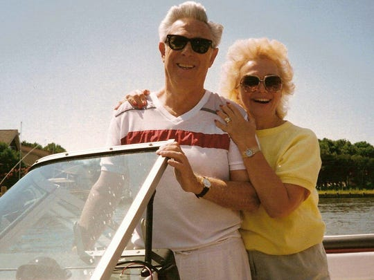 Jack and Jackie Hubberman on their boat, circa 1980s.