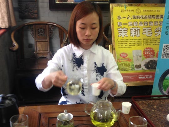 Tea service in China was very traditional and of great
