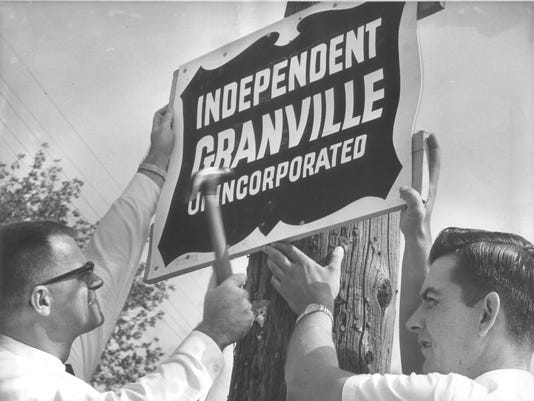 Granville Protest Sign in 1962