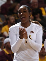 Kayla Buford didn't start playing competitive volleyball
