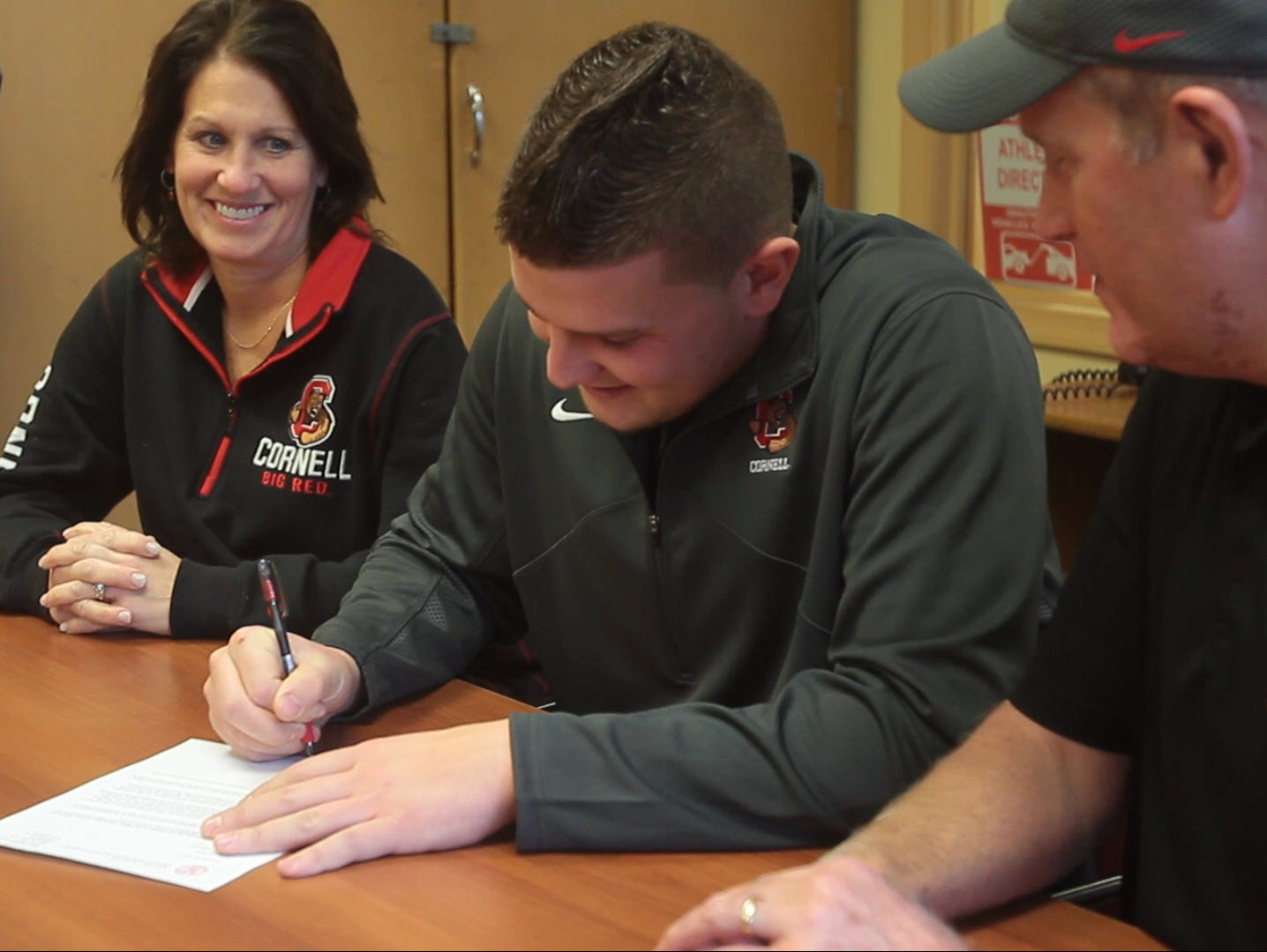 Jordan Landsman signed on to Cornell University on Feb. 3, 2016 at Nanuet Senior High School.