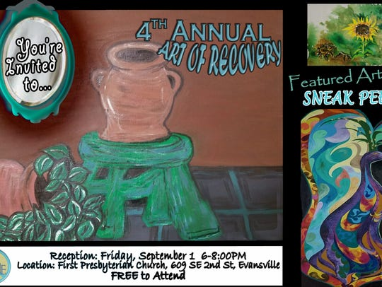 The Art of Recovery reception is 6-8 p.m. Friday with