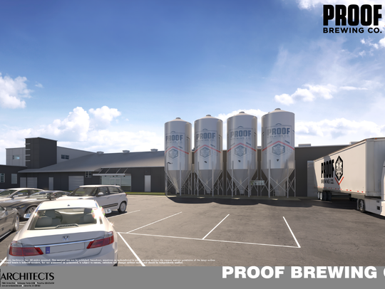 The transformation of the old Coca-Cola building into the new Proof Brewery is nearly complete.