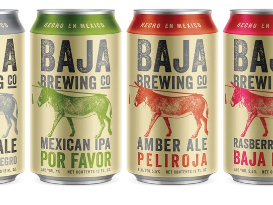 Products at Baja Brewing of Mexico.