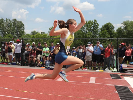 Wayne's Kaitlyn Bonczyk wins the state triple jump