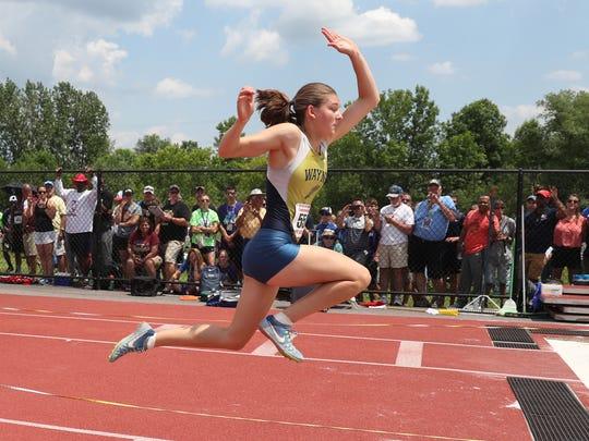 Wayne's Kaitlyn Bonczyk wins the state triple jump