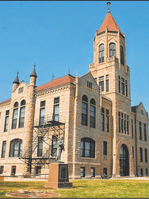 The Iowa County Courthouse is one of several stops in Iowa County along the Iowa Valley Scenic Byway.