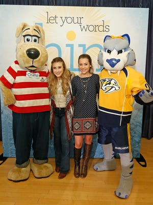 "Country artists Maddie & Tae team with the Nashville Predators, the Country Music Association and the Monroe Carell Jr. Children's Hospital at Vanderbilt to kick off a community engagement campaign called ""Shine Bright."""