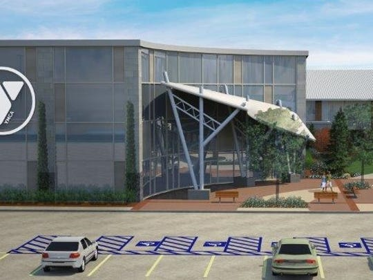 The last addition to the YMCA's Bill Bartley Family expansion is a new grand entry, which will give families a place to mingle before and after youth sporting events.