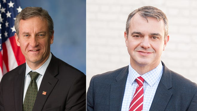 U.S. Rep. Matt Cartwright, left, the Democratic Eighth District incumbent, and his Republican opponent Jim Bognet will debate Sunday on WVIA.