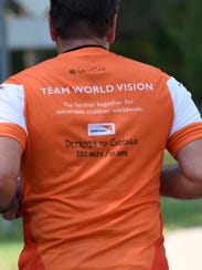 All four runners are raising funds for World Vision