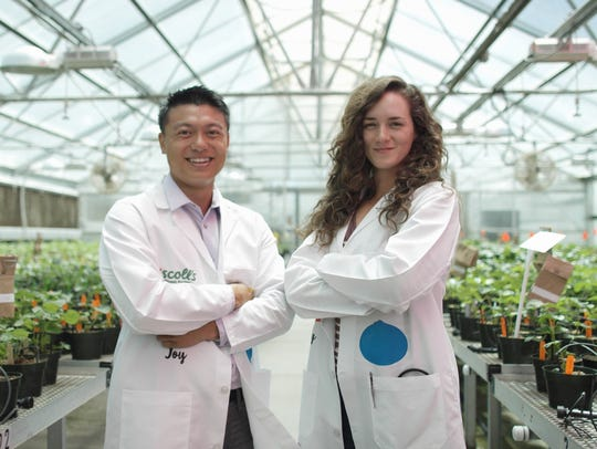 Left, Henry Yeung a sensory analyst at Driscoll's and