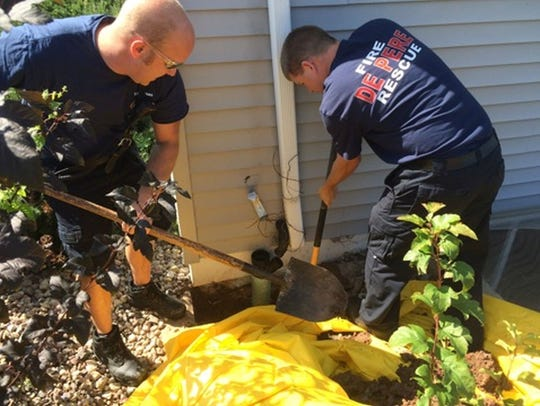 De Pere firefighters rescued a kitten that was trapped