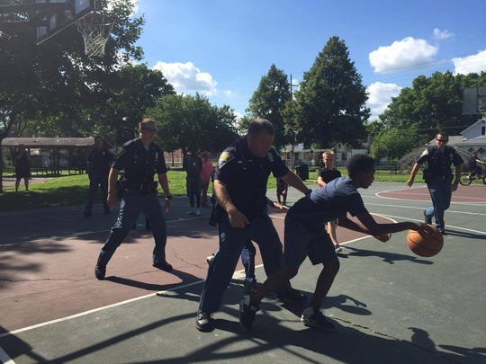 Four Indiana State Police troopers accept the challenge