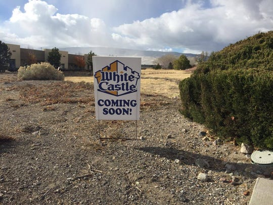 This fake White Castle Coming Soon! sign is on Gateway and Prototype drives in south Reno.