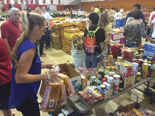 Hundreds of volunteers turned out for the Space Coast
