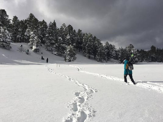 Jan. snow in Flagstaff