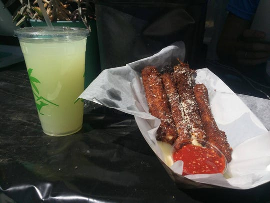 Mozzarella sticks and lemonade from Big Mozz at Coachella.