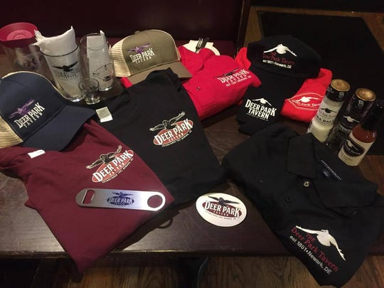 Newark's Deer Park Tavern now offers a wider range of merchandise, some of which features new logos.