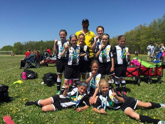 MC United's U10 Stingrays were undefeated  at the Scheels Flatgrass Regional Tournament in May in Neenah.