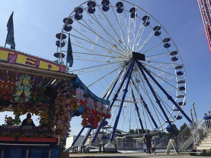 The new 11-story ferris wheel sits at the Dutchess