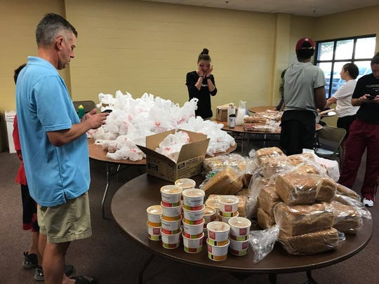 FSU officials are providing food and water to student-athletes Saturday morning.