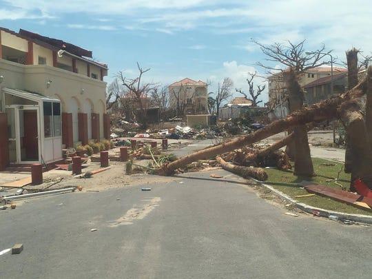 La  students ride out Hurricane Irma on Caribbean island