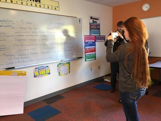 Poughkeepsie Day School junior Joanna Houston takes