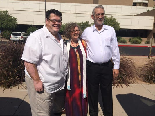 Rudy Armijo and Don Pack married