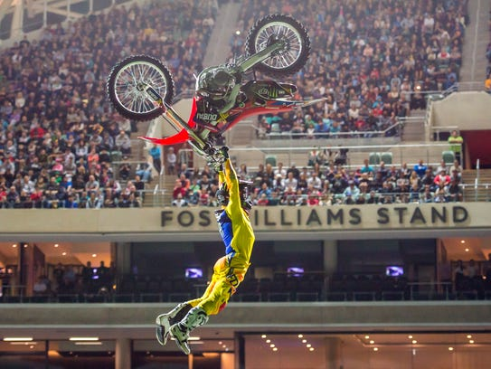 The Nitro Circus is at Greater Nevada Field on Friday.