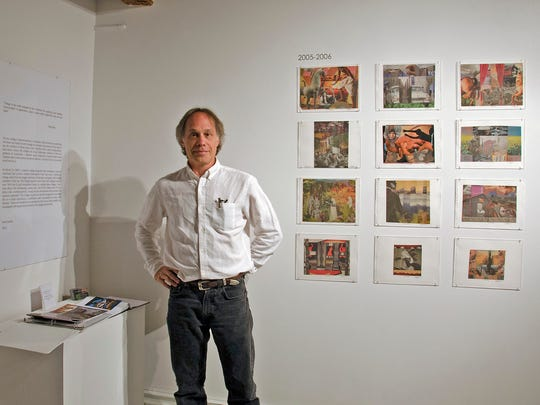 Peter Jacobs has created collages from each day's copy of The New York Times for the past 10 years.  An exhibition of his work is currently on display on the Hunterdon Art Museum in Clinton.  The Montclair  artist is also donated a piece to the auction that will be part of the museum's ArtParty on Saturday, Sept. 19.