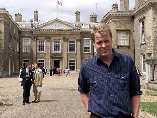 ** FILE ** Earl Spencer, brother of the late Diana, Princess of Wales, stands outside his family home at Althorp, in this photo dated May 28, 2001. It is reported Friday July 9, 2004, that the Princess of Wales Museum at Althorp Estate, is to close due to falling visitor numbers, according to an unidentified person, reported to be a 'royal insider' according to a British newspaper on Friday. Diana Princess of Wales died some seven years ago in a car crash in Paris, France. Earl Spencer has made no comment. (AP photo / Andrew Parsons, PA) ** UNITED KINGDOM OUT MAGS OUT NO SALES **