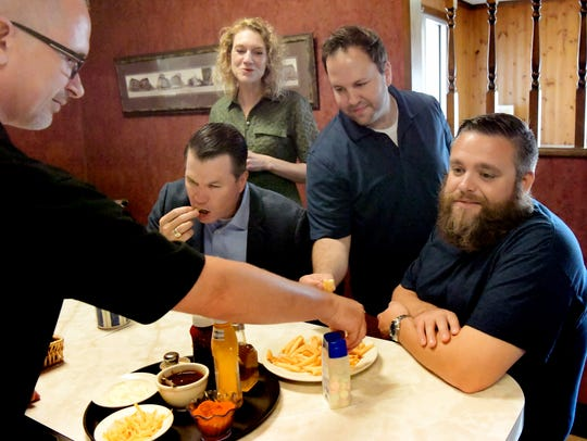 Central Family Restaurant owner Karl Spangler, left,