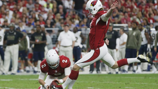 Kicker Chandler Catanzaro made all 27 extra point attempts a year ago. On field goal attempts of less than 40 yards, he was 12 of 14, with the two misses coming against the Chiefs (36, 34).