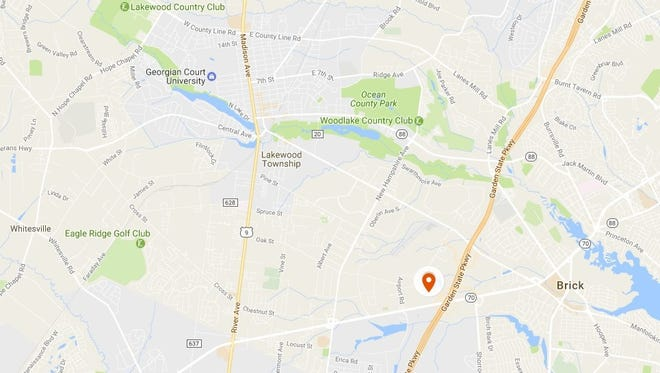 Map showing where the Bennett Center and The Encore developments are planned to be built.