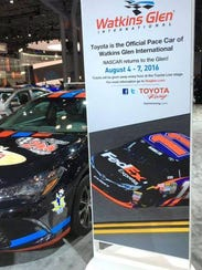 Watkins Glen International pace car on display at the
