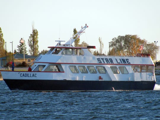 The Star Line Ferry, which travels from St. Ignace