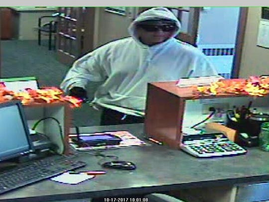 The suspect in a robbery at the Hershey Federal Credit