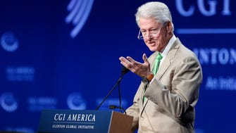 Former President Bill Clinton speaks during the closing session on the final day of the annual gathering of the Clinton Global Initiative America, at the Sheraton Downtown in Denver.