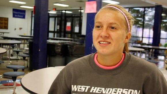 West Henderson's Brittney Naef.