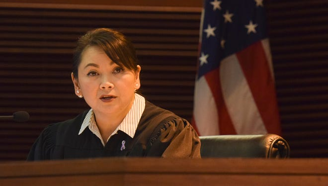 Superior Court of Guam Judge Maria Cenzon is shown in this June 14 file photo. Cenzon announced in Superior Court Tuesday she will be filing a motion to recuse herself from overseeing the cases against the local Catholic church and Archbishop Anthony Apuron.