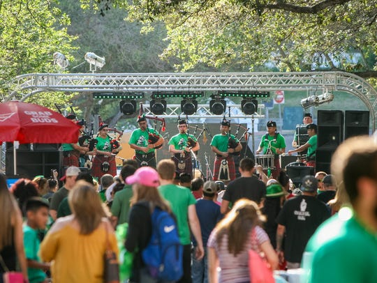 Irish Pipes and Drums will be featured during the 2018