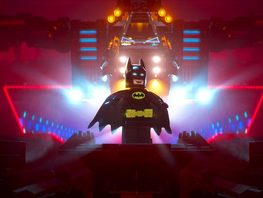 Lego Batman (voiced by Will Arnett) shows off his lair