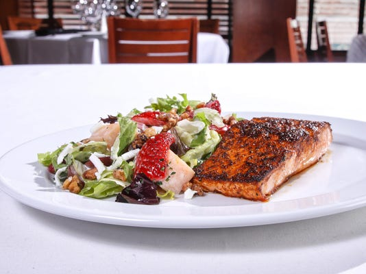 OP Brunch - Blackened Salmon Salad