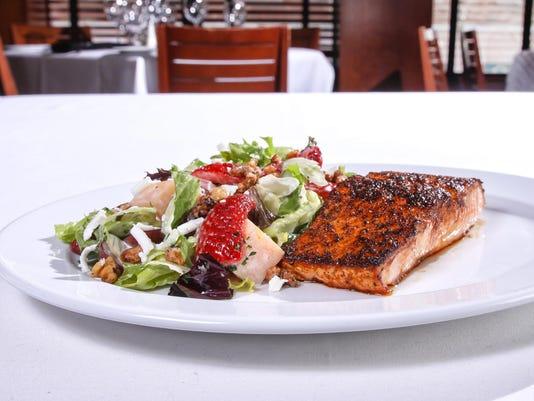 OP Brunch - Blackened Salmon Salad