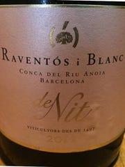 2012 Raventos i Blanc de Nit rosé sparkling wine from