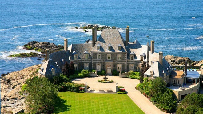 This 14 bedroom, 14 and 3 half bath home has 15851 square feet of living area and sits on 9 acres of prime ocean front property. It is located at 254 Ocean Av, Newport Rhode Island and is listed at $19,000,000.
